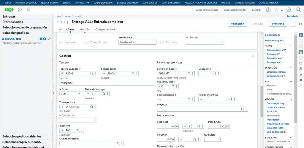integracion operadores logisticos con sage x3
