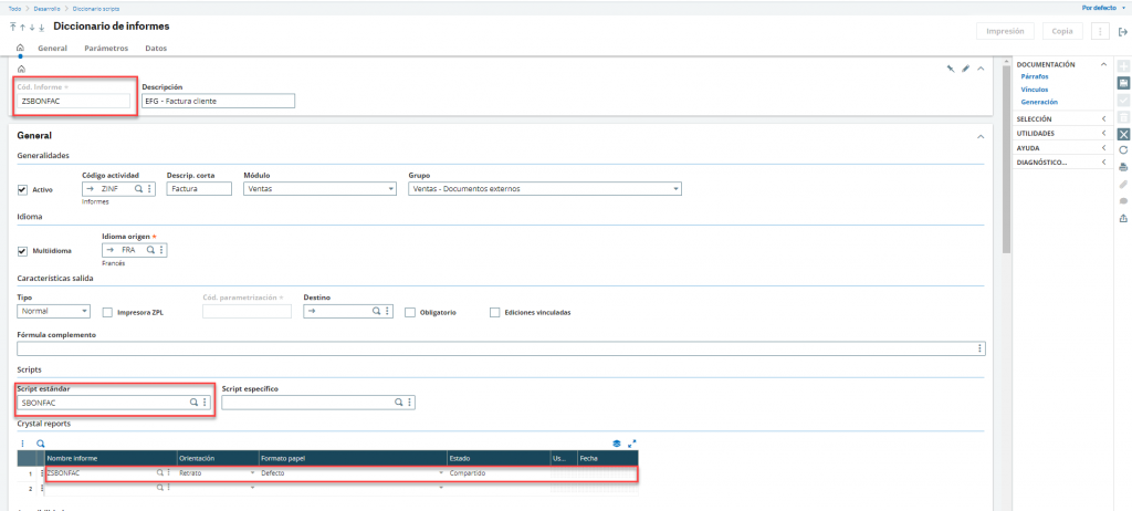 Cómo personalizar informes en Sage X3