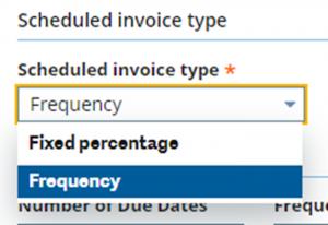 scheduled invoice type