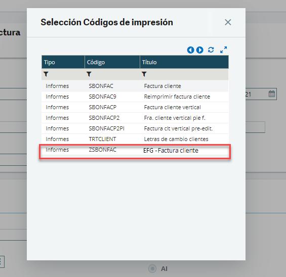 Imprimir informe personalizado Sage X3